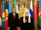Святейший Патриарх Кирилл встретился с послом Узбекистана в России