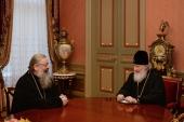 Святейший Патриарх Кирилл провел рабочую встречу с митрополитом Екатеринбургским Кириллом