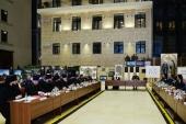 Святейший Патриарх Кирилл и министр обороны С.К. Шойгу провели заседание художественного совета по строительству главного храма Вооруженных сил России