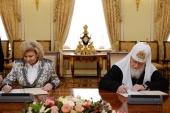 Подписано Соглашение о сотрудничестве между Русской Православной Церковью и Уполномоченным по правам человека в Российской Федерации