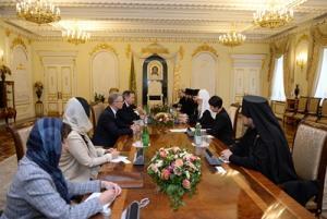 Святейший Патриарх Кирилл встретился с президентом Международного Комитета Красного Креста