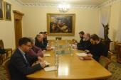 В Отделе внешних церковных связей состоялась встреча с представителем ОБСЕ