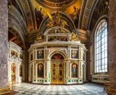 Митрополит Санкт-Петербургский Варсонофий освятил придел святой Екатерины Исаакиевского собора