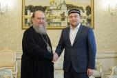 Состоялась встреча главы Казахстанского митрополичьего округа с главным имамом центральной мечети Алма-Аты