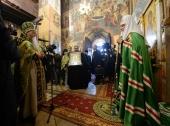 Святейший Патриарх Кирилл совершил Литургию в Саввино-Сторожевском ставропигиальном монастыре