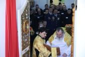 В тюрьме «Белый лебедь» в городе Соликамске освящен православный храм