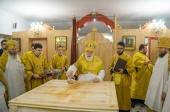 Патриарший экзарх всея Беларуси освятил нижний храм в честь святых Царственных страстотерпцев в Успенском соборе г. Молодечно
