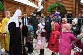 Святейший Патриарх Кирилл освятил московский храм Всех преподобных отцев Киево-Печерских в Старых Черемушках