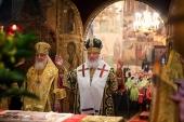 В день памяти святителя Петра Московского Предстоятель Русской Церкви совершил Литургию в Успенском соборе Кремля
