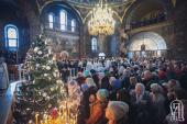 Блаженнейший митрополит Киевский и всея Украины Онуфрий возглавил торжественное богослужение в навечерие Рождества Христова
