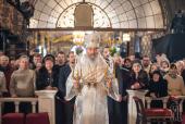В праздник Рождества Христова Предстоятель Украинской Православной Церкви совершил Литургию в Киево-Печерской лавре