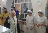 Председатель Синодального отдела по благотворительности совершил всенощное бдение в паллиативном отделении больницы святителя Алексия в Москве
