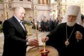 В праздник Рождества Христова Президент Республики Беларусь посетил храм-памятник в честь Всех святых в Минске
