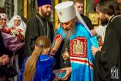 В день памяти первомученика Стефана Блаженнейший митрополит Онуфрий возглавил Литургию в Пантелеимоновом монастыре города Киева