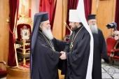 Председатель Отдела внешних церковных связей встретился с Патриархом Иерусалимским Феофилом III