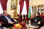 Митрополит Волоколамский Иларион встретился с послом Российской Федерации в Израиле