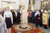 В Неделю 33-ю по Пятидесятнице Патриарший экзарх всея Беларуси совершил Литургию в Свято-Духовом кафедральном соборе Минска