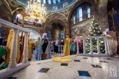 В день отдания праздника Рождества Христова митрополит Киевский Онуфрий совершил Литургию в Киево-Печерской лавре