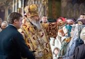 Блаженнейший митрополит Онуфрий совершил Литургию в день Обрезания Господня в Киево-Печерской лавре