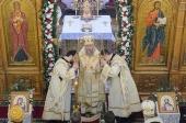 В праздник Обрезания Господня глава Казахстанского митрополичьего округа совершил Литургию в Крестовоздвиженском храме города Алма-Аты