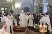 Патриарший наместник Московской епархии совершил отпевание заместителя председателя Императорского православного палестинского общества Н.Н. Лисового