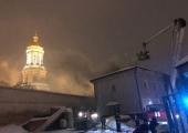 Полиция задержала мужчину за поджог здания у Киево-Печерской лавры