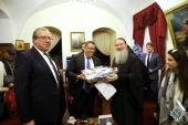 Новый мэр Иерусалима посетил Русскую духовную миссию