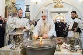 В Крещенский сочельник Патриарший экзарх всея Беларуси совершил Литургию в Свято-Духовом кафедральном соборе Минска
