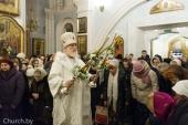 В праздник Крещения Господня Патриарший экзарх всея Беларуси совершил Литургию и великое освящение воды в Свято-Духовом соборе Минска