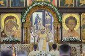 В праздник Собора Иоанна Предтечи глава Казахстанского митрополичьего округа совершил Литургию в храме Христа Спасителя города Алма-Аты