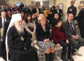Патриарший наместник Московской епархии принял участие в открытии выставки, посвященной протоиерею Александру Меню