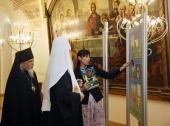 Святейший Патриарх Кирилл посетил выставку «Врачевание, милосердие, вера» в Храме Христа Спасителя
