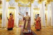 В день памяти мученицы Татианы Святейший Патриарх Кирилл совершил Литургию в домовом храме Московского государственного университета