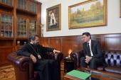 Митрополит Волоколамский Иларион встретился с послом Мальты в России