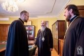 Блаженнейший митрополит Онуфрий встретился с иерархом Православной Церкви Чешских земель и Словакии