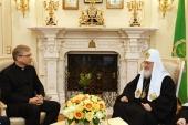 Святейший Патриарх Кирилл встретился с генеральным секретарем Всемирного совета церквей Олафом Фюксе Твейтом