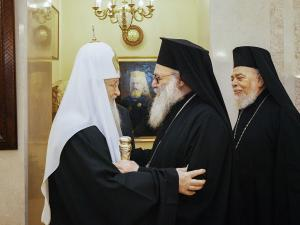 Состоялась встреча Святейшего Патриарха Кирилла с Блаженнейшим Патриархом Антиохийским и всего Востока Иоанном X