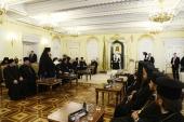 Святейший Патриарх Кирилл встретился с делегациями Поместных Церквей, прибывшими на торжества по случаю 10-летия Поместного Собора Русской Православной Церкви и Патриаршей интронизации
