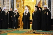 Слово Святейшего Патриарха Кирилла в десятую годовщину интронизации после Литургии в Храме Христа Спасителя