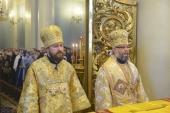 Митрополит Волоколамский Иларион совершил Божественную литургию вместе с иерархом Болгарской Православной Церкви