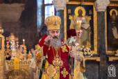 В праздник Собора новомучеников и исповедников Церкви Русской Предстоятель Украинской Православной Церкви возглавил Литургию в Киево-Печерской лавре