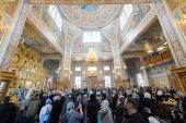 В праздник Сретения Господня глава Казахстанского митрополичьего округа совершил Литургию в Иверско-Серафимовском монастыре Алма-Аты
