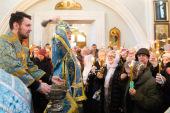 В праздник Сретения Господня Патриарший экзарх всея Беларуси совершил Литургию в Свято-Духовом кафедральном соборе Минска