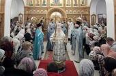 Патриарший наместник Московской епархии совершил Литургию в храме иконы Божией Матери «Нечаянная Радость» поселка санатория «Подмосковье» г. Домодедово