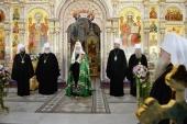 Проповедь Святейшего Патриарха Кирилла в праздник Покрова Пресвятой Богородицы после Литургии в храме Всех святых в Минске