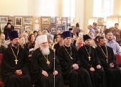 В домовом храме Московского университета состоялось открытие выставки, посвященной 50-летию прославления равноапостольного Николая Японского