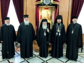Блаженнейший Патриарх Иерусалимский Феофил III встретился с представителем Украинской Православной Церкви при международных европейских организациях