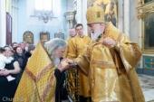 В Неделю о Страшном Суде Патриарший экзарх всея Беларуси совершил Литургию в Свято-Духовом кафедральном соборе города Минска