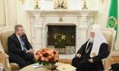 Состоялась встреча Святейшего Патриарха Кирилла с послом Эстонии в России Маргусом Лайдре