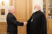 Состоялась встреча митрополита Минского Павла с послом Словакии в Белоруссии Йозефом Мигашем